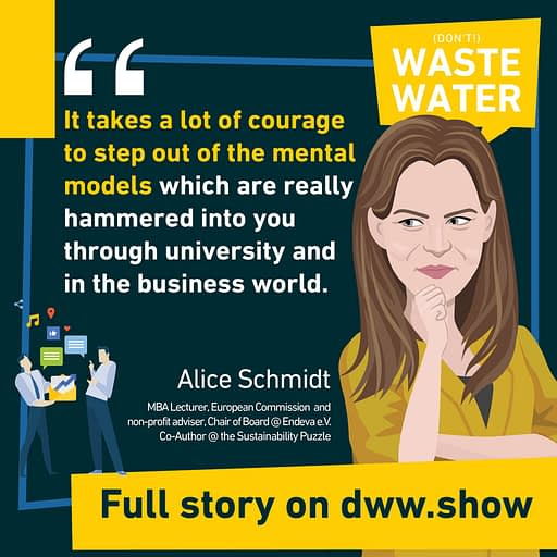 It takes a lot of courage to step out of the mental models we're hammered into in universities and business world, thinks Alice Schmidt, co-author of the Sustainability Puzzle.