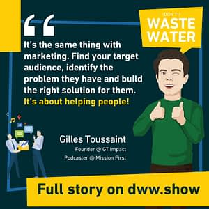 Marketing: find your audience, identify their problem and build the right solution. Gilles Toussaint - Mission First - Entrepreneurs for Future