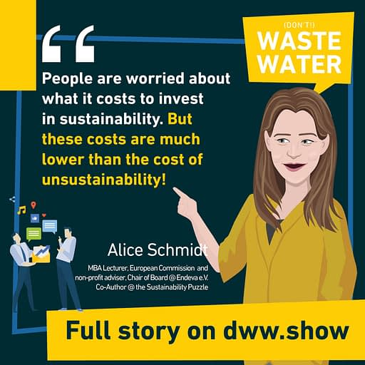 People are worried about the costs of sustainability, but these are much lower than the costs of unsustainability! A simple truth Alice Schmidt shares.