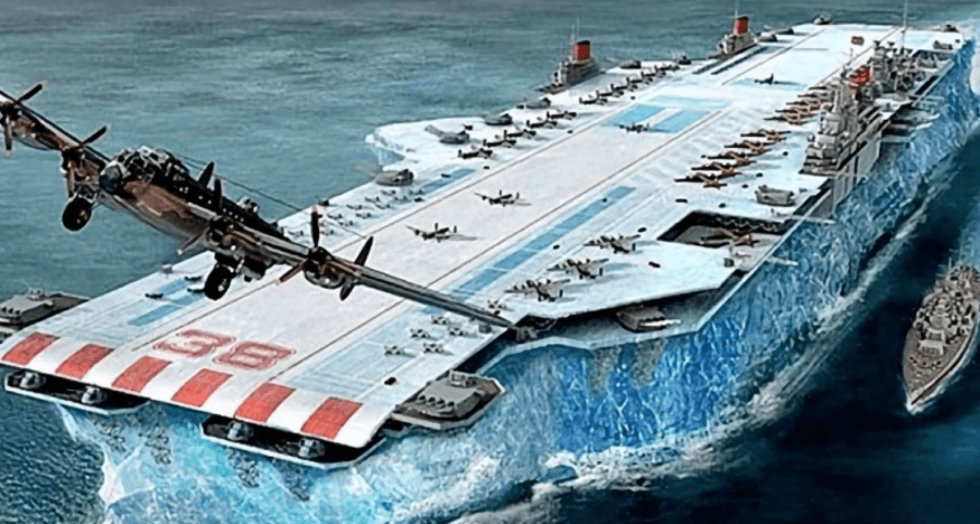Project Habbakuk was foreseeing to leverage icebergs as aircraft carriers