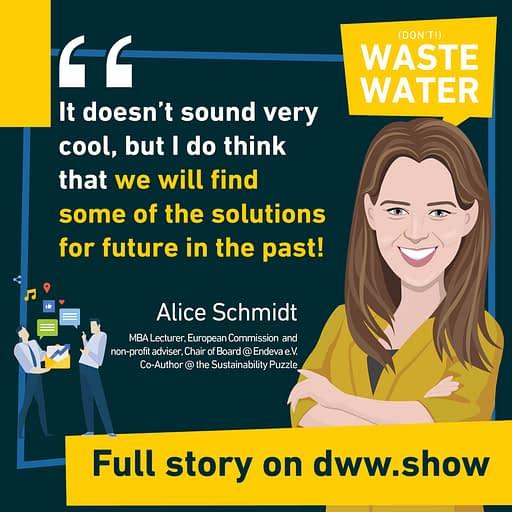 Some of the keys to the Sustainability Puzzle may well lie in the past - as Alice Schmidt says.