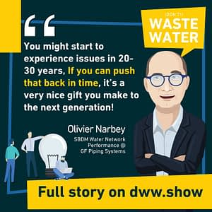 The more you can push water network performance reduction back in time, the better, thinks Olivier Narbey from GF Piping Systems