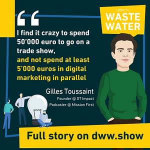 If you spend 50000 euros on a tradeshow, spend at least 5000 euros in digital marketing.