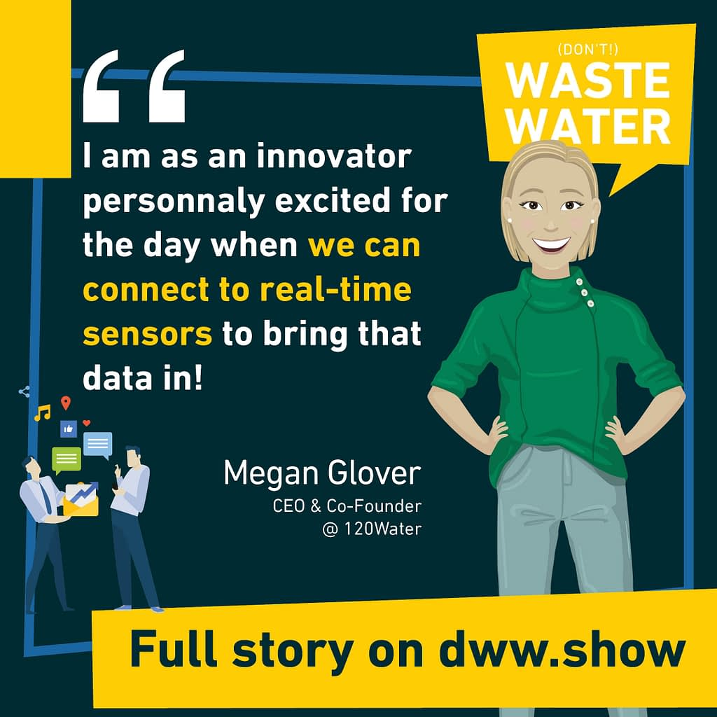 I am as an innovator personally excited for the day when we can connect to real-time sensors to bring that data in! A quote from the Co-Founder of 120Water.