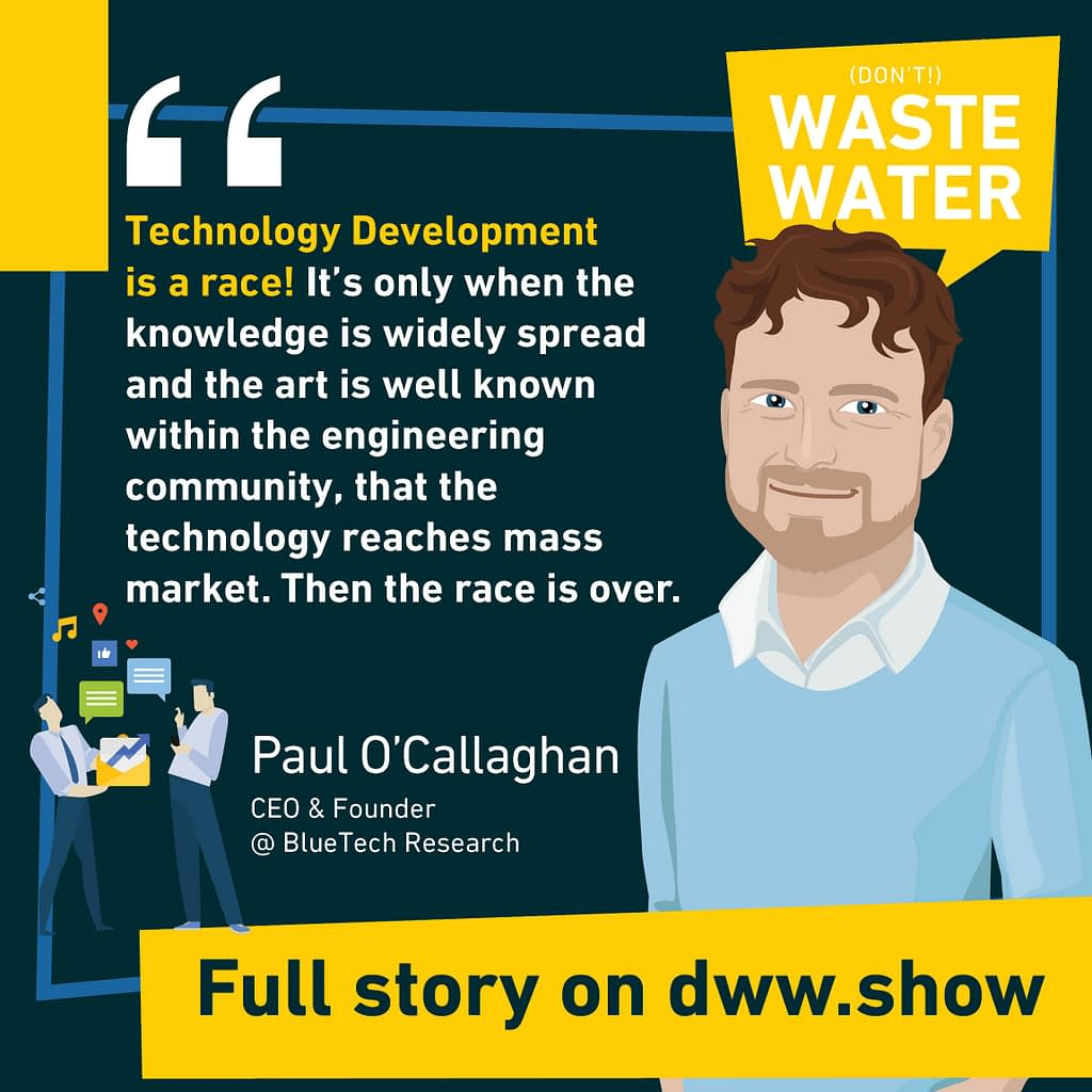 Technology Development is a race in the Water Industry. Once the race is over, water technologies get studied in Universities.