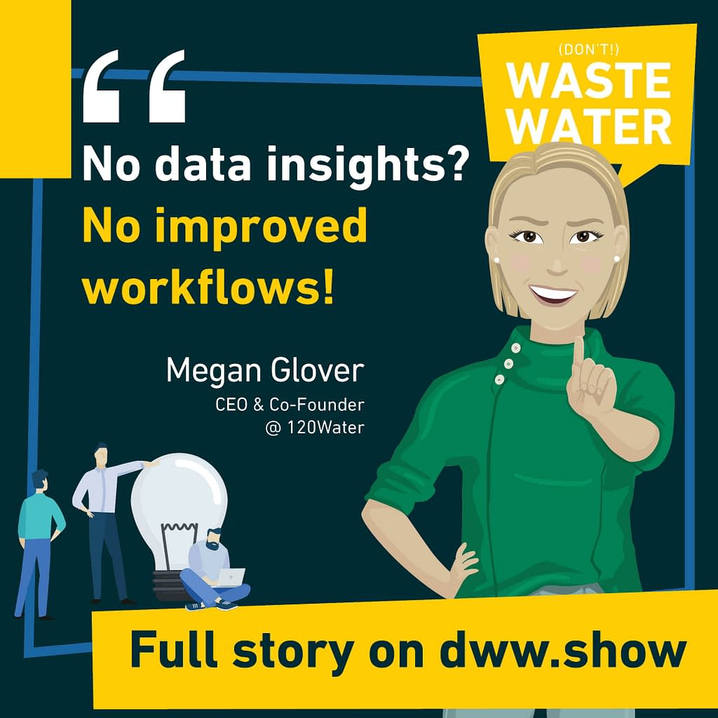 No Data Insights? No improved workflows! Strong words by Megan Casey Glover, CEO of 120Water.