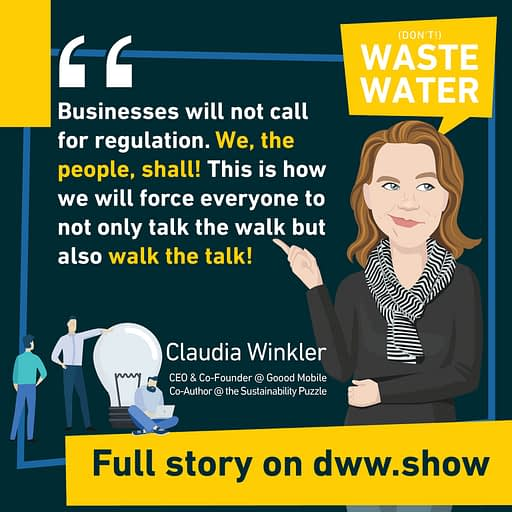 Companies shall walk the talk before they tweet the tweet! A strong quote Alice Schmidt and Claudia Winkler share in the Sustainability Puzzle book.