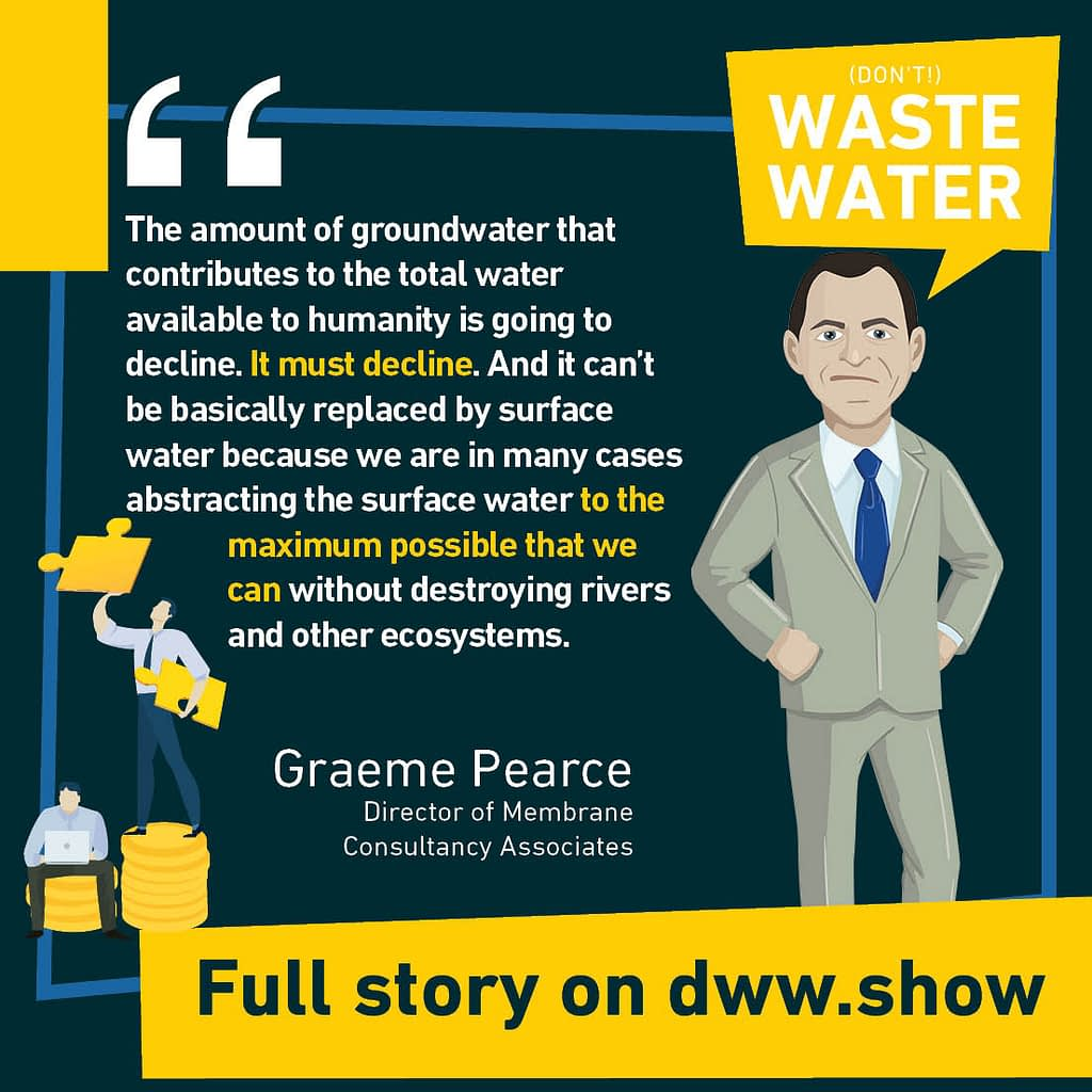 Wastewater Reuse might soon be mandatory. So we better start sharing the message, as Graeme Pearce shares on this week's podcast!