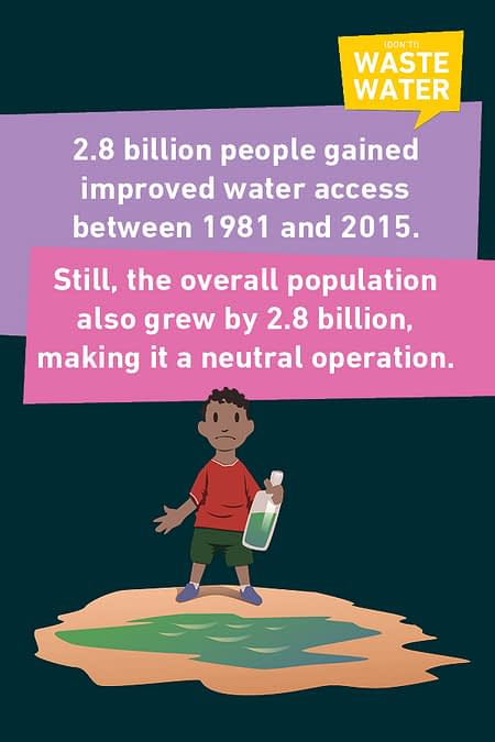 The world has a hard time to follow its population growth, it was already true for MDG7, it is still for SDG6