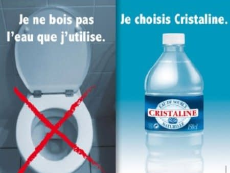 Cristaline was fined for this Bottled Water ad