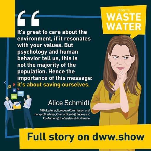 It is not about saving the planet: it is about saving ourselves! A key message by Alice Schmidt and Claudia Winkler, co-authors of the Sustainability Puzzle book!