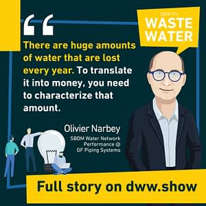 126 trillion liters of liters of non-revenue water are lost every year