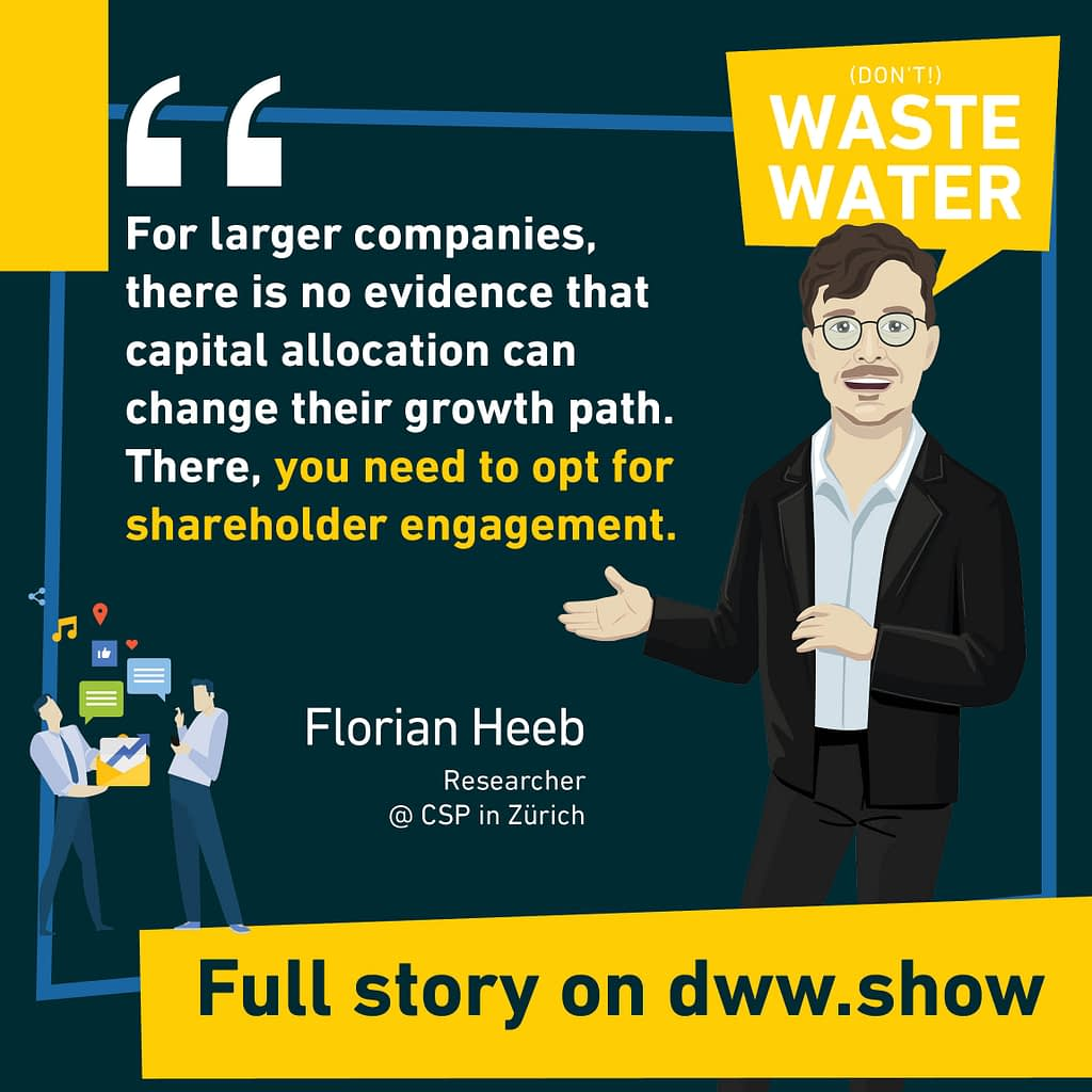 Larger companies need different strategies, as Florian Heeb says