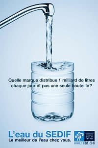 French Ad of an Utility against Bottled Water
