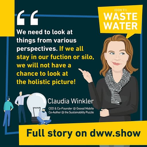 We need to come out of our functions or silos, to look at the holistic picture! So thinks Claudia Winkler, co-author of the Sustainability Puzzle book.
