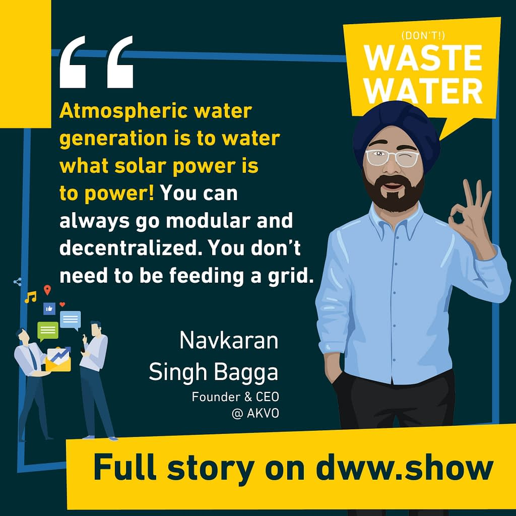Atmospheric water generation is to water what solar power is to power! A quote of AKVO's CEO & Founder.
