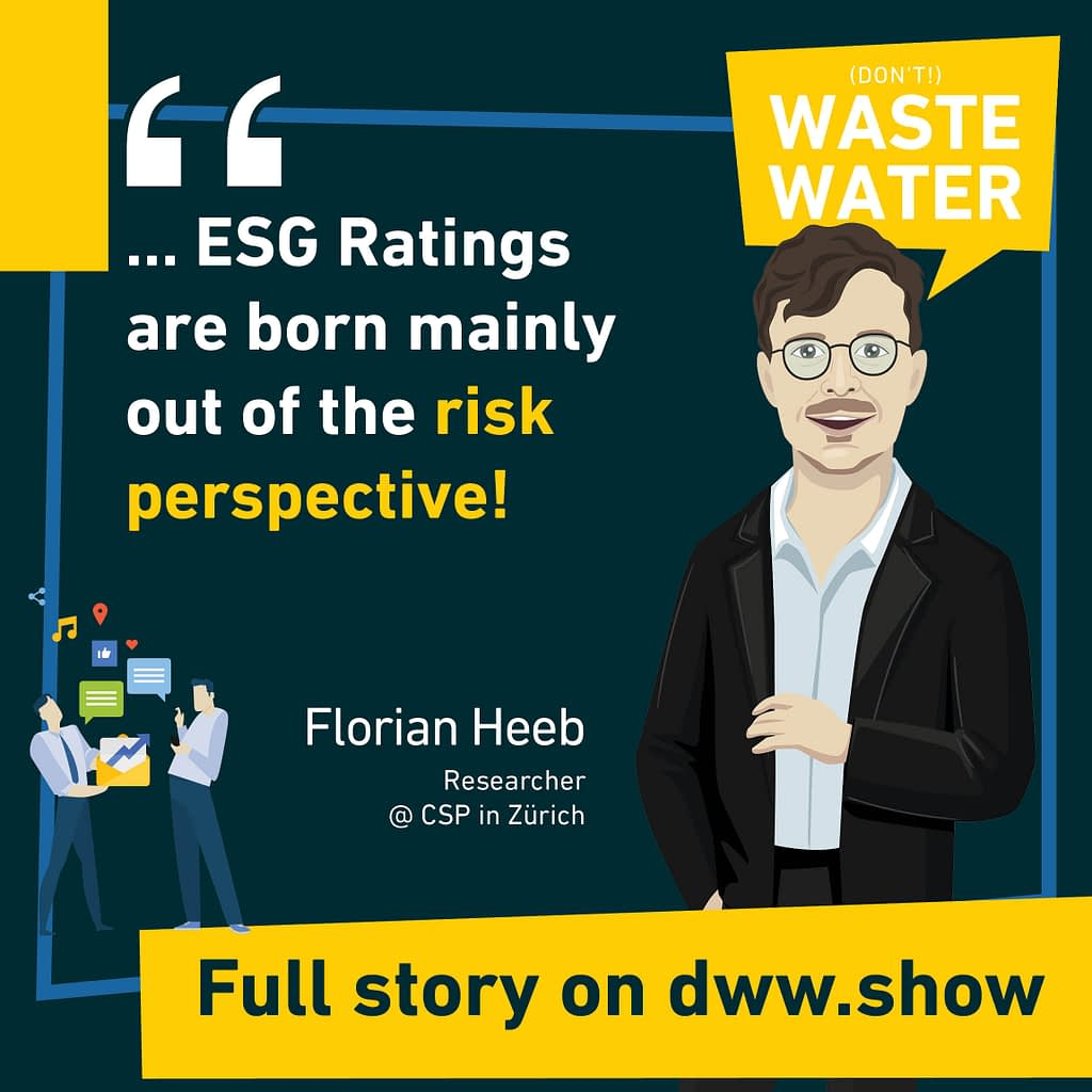 ESG ratings are born mainly out of the risk perspective, as Florian Heeb explains