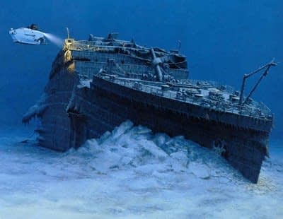 an Iceberg victim was found by a WHOI team: the Titanic