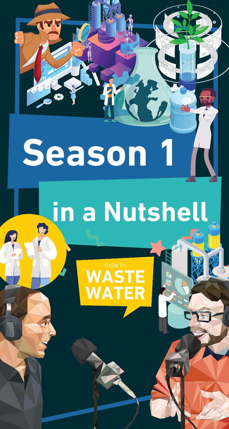 Book Cover: Don't Waste Water Podcast, Season 1 in a nutshell