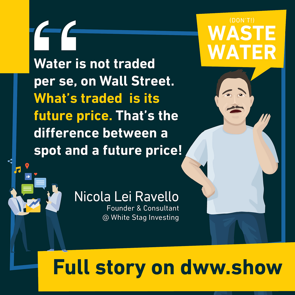 Water is traded in Wall Street. Well, is it? Nicola Lei Ravello explains what the listing of Water Futures really means.