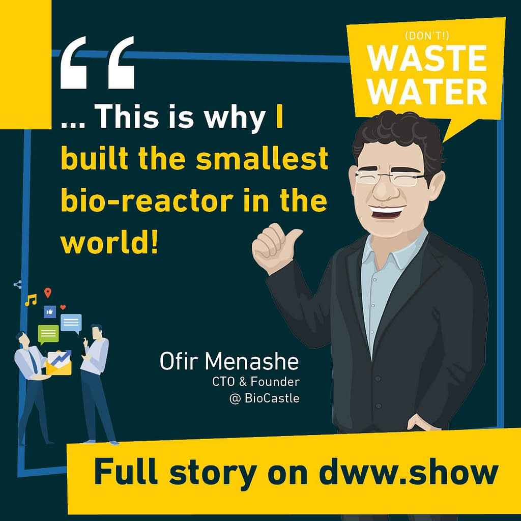 This is why I built the smallest bio-reactor in the world! Technically speaking: microbial encapsulation. Ofir Menashe - CTO & Founder of BioCastle