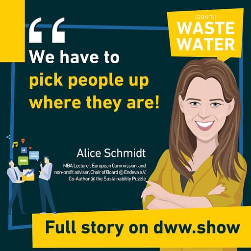 To be successful, we have to pick people where they are. So thinks Alice Schmidt, co-author of the Sustainability Puzzle book.