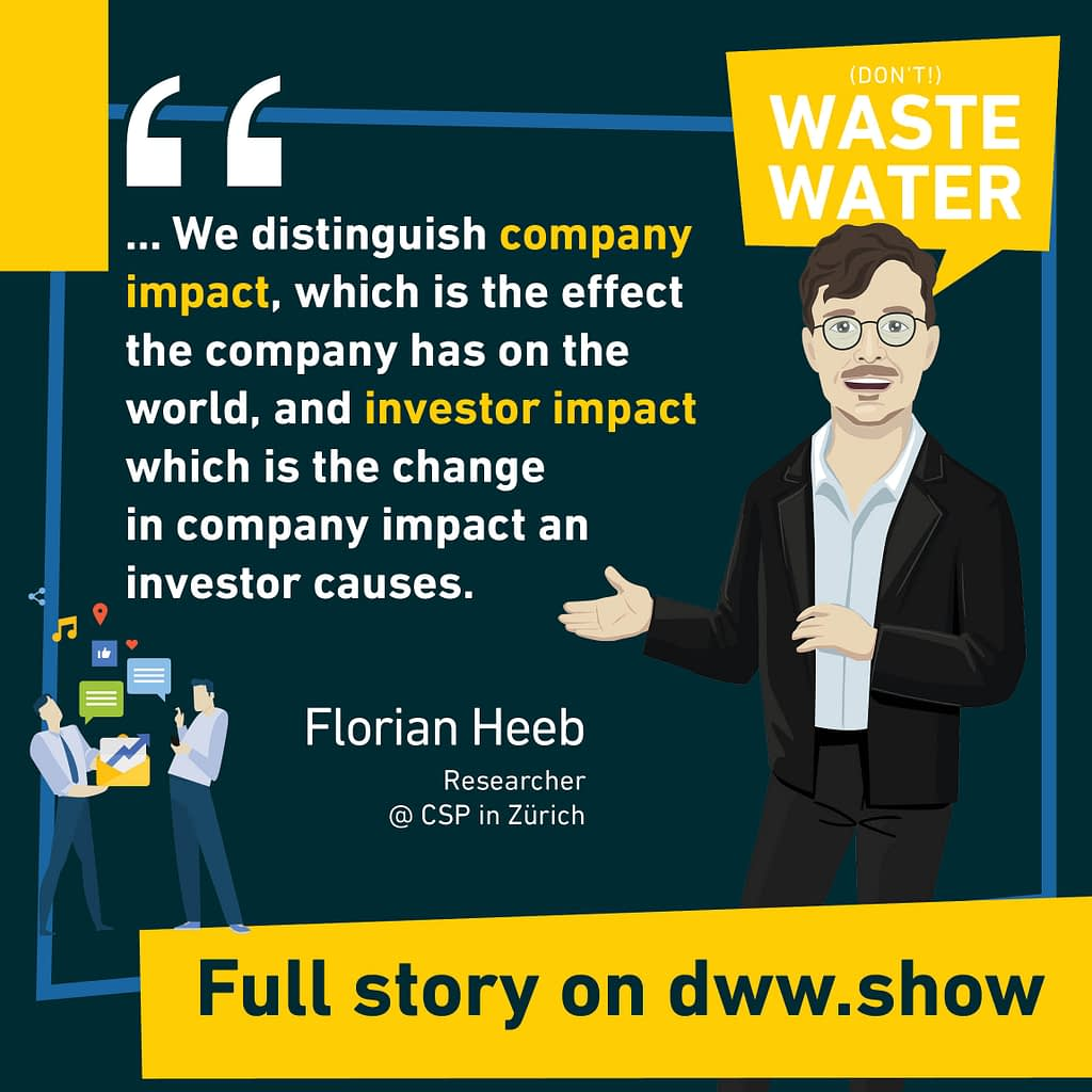 Julian Kölbel and Florian Heeb from the Center for Sustainable Finance and Private Wealth distinguish company impact and investor impact