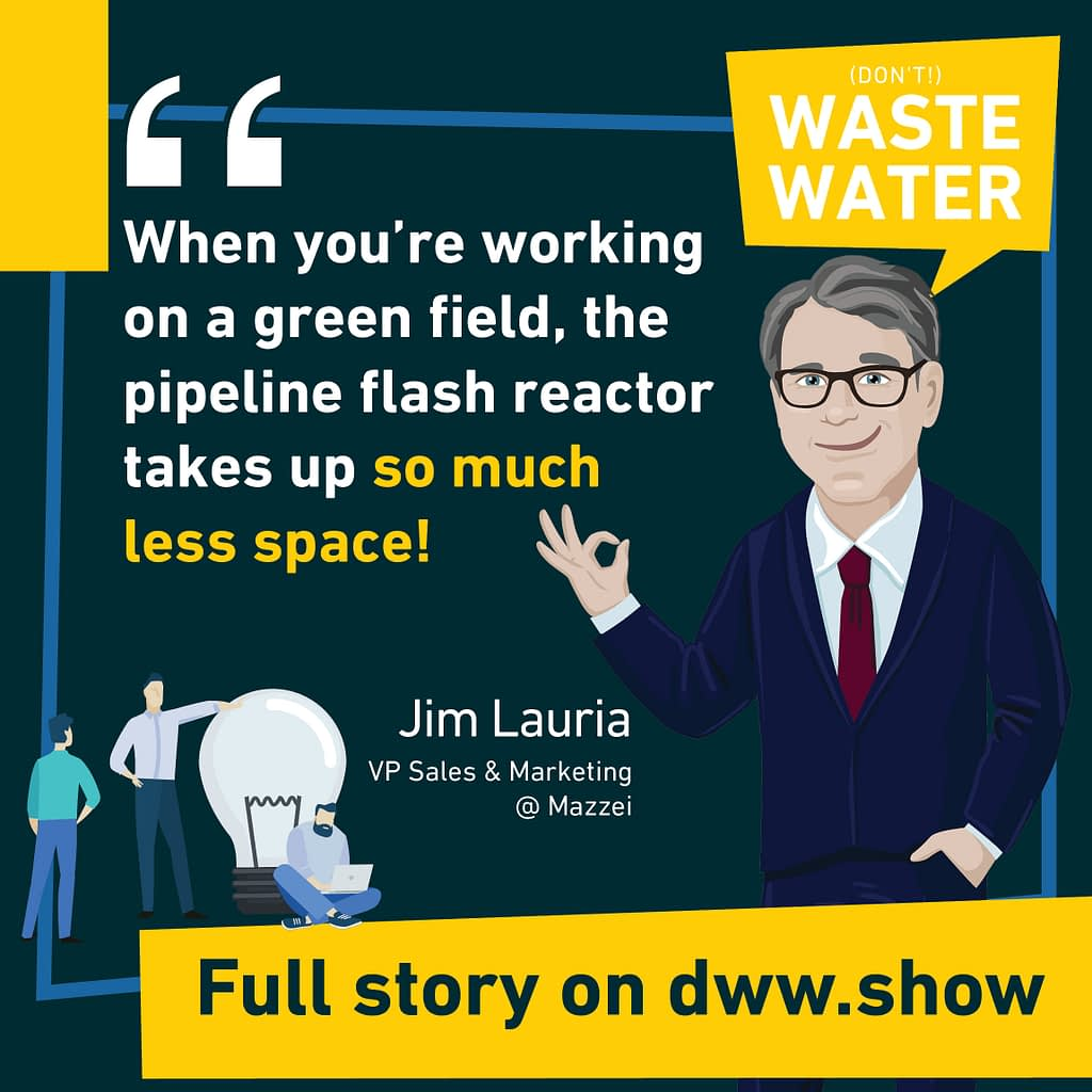 Mazzei's Pipeline Flash Reactor saves space on the Ozone Diffusion System says Jim Lauria