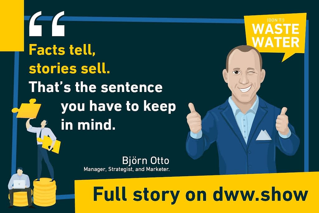 Björn Otto quotes this maxim on water marketing