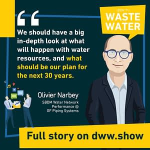 With water scarcity on the rise, we must better control the water resources - thinks Olivier Narbey from GF Piping Systems