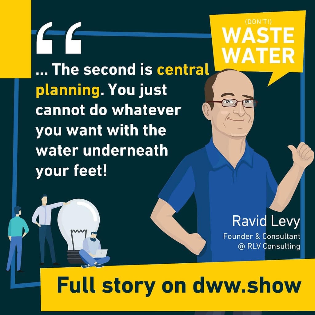 Central Planning is the second pillar of the Israel Water Miracle. (as Ravid Levy explains)