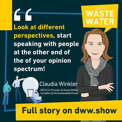 You should speak with people you disagree with. An advice by Claudia Winkler, validated by Alice Schmidt!