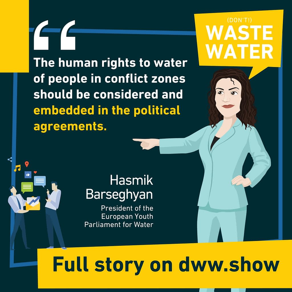 Human Right to Water in Conflict zones can be tricky, warns Hasmik Barseghyan
