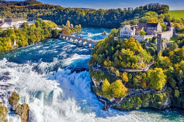Lea Im Obersteg's (Head of Global Design Thinking at GF Piping System) recommendation: the Rhine Falls in Schaffhausen