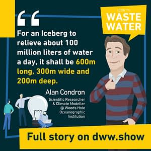 An Iceberg to cover 20% of Cape Town's water needs would need to be 600m long, 300m wide and 200m deep, calculated Alan Condron.